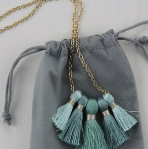 Miss Ivy Gold Tassel Necklace